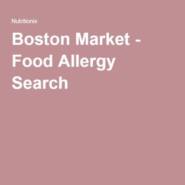 Boston Market Nutrition Information - Nutritionix - Fish, Peanuts,  Shellfish, Soy, Tree Nuts