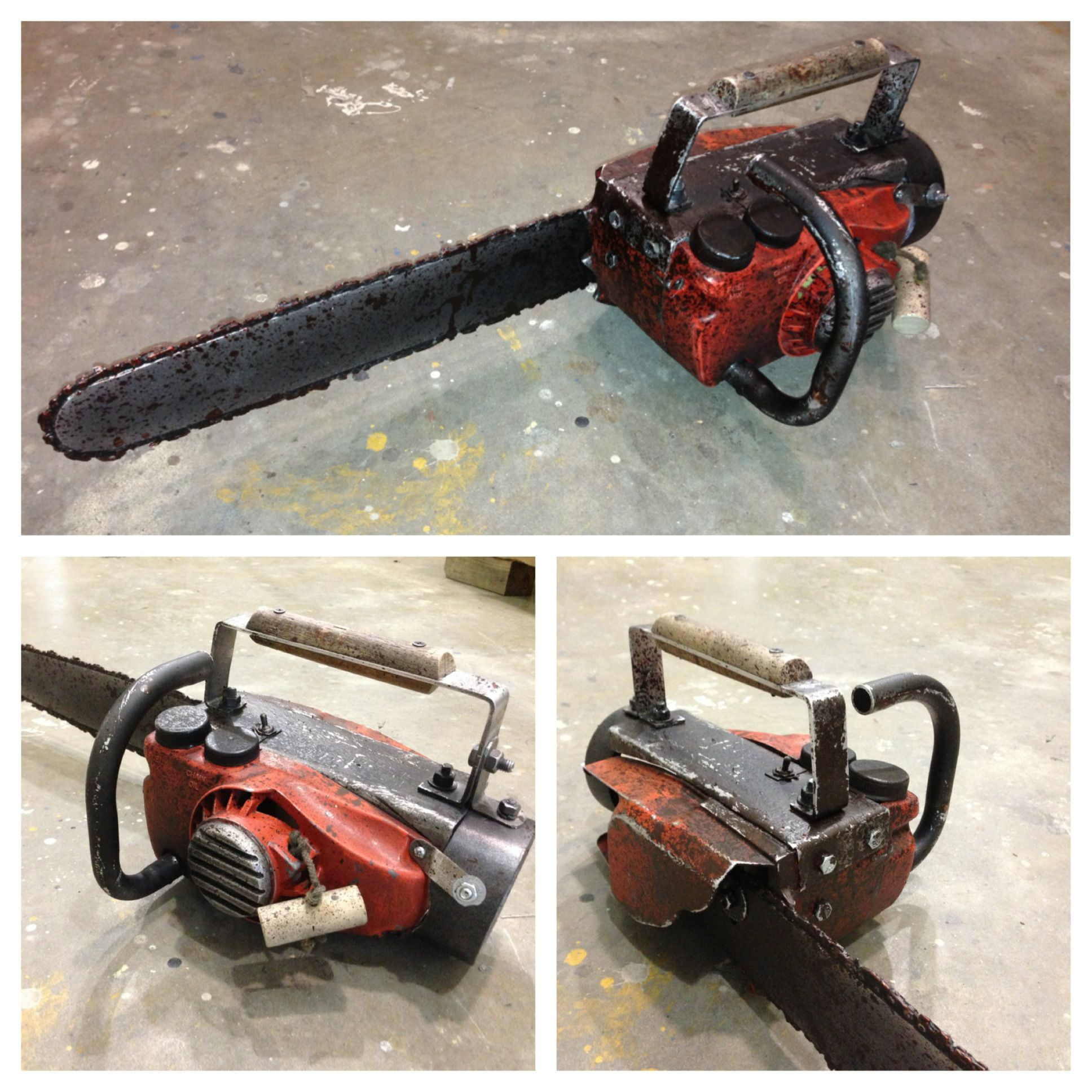 The famous evil dead 2 chainsaw hand a prop i made from an original the famous evil dead 2 chainsaw hand a prop i made from an original homelite xl chainsaw body altered to resemble the saw that ash bruce campbell wields greentooth Choice Image