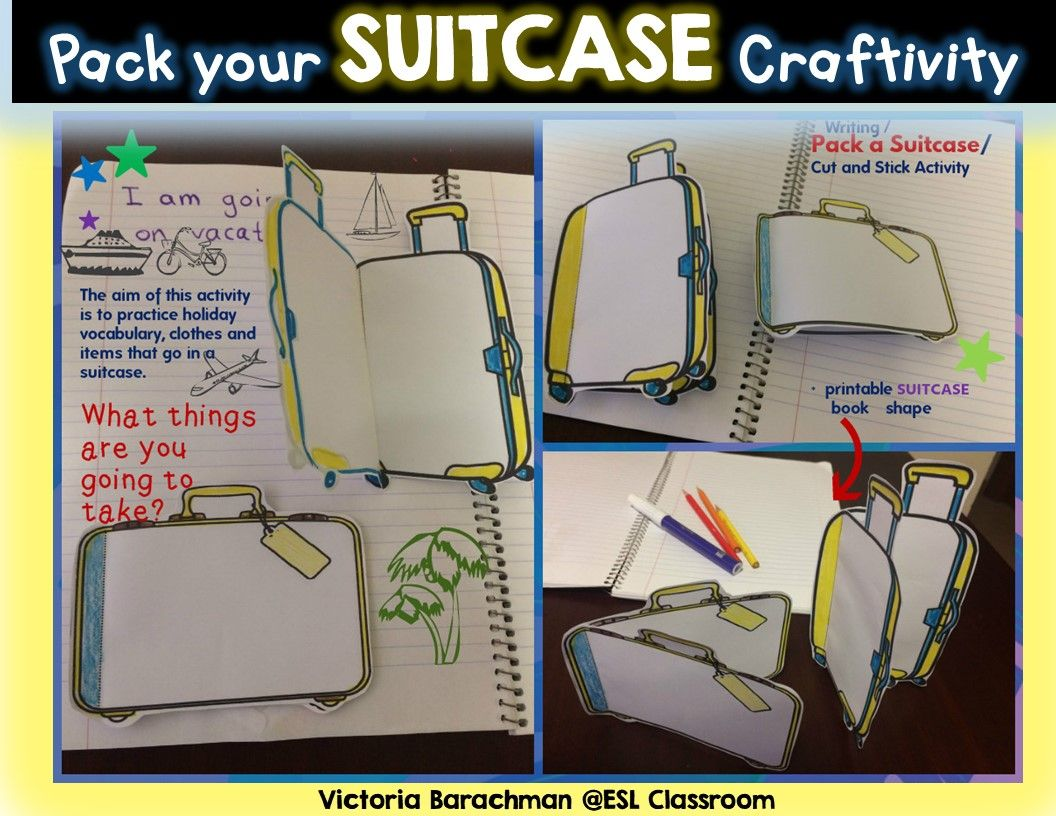 Pack Your Suitcase Craftivity