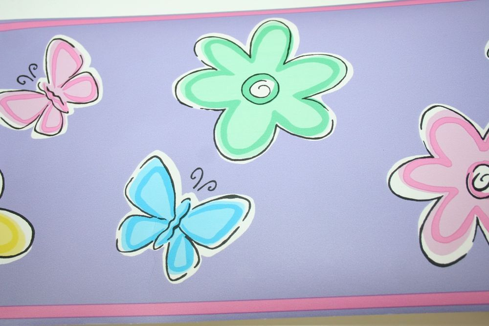 Bedtime Butterfly Wall Border 5 Rolls 51026LW CHF Girls Bedroom Room ...