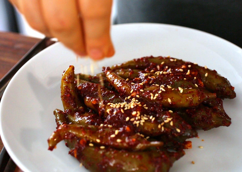 Green chili-pepper-pickles-(gochujangajji) :고추장아찌