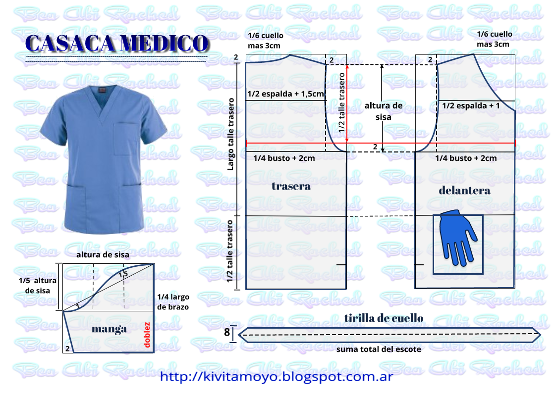 KiVita MoYo: CHAQUETILLA MEDICO - ENFERMERO | patrones marty ...