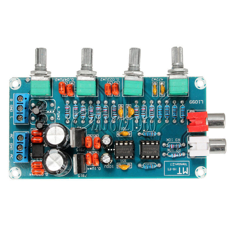 NE5532 HIFI OP-AMP Amplifier Preamplifier Volume Tone EQ Control Board DIY Kit