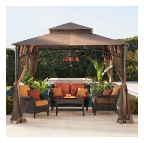 Sunjoy Outdoor Patio Madaga Gazebo 10x10 Lgz136pst7 Backyard Gazebo Patio Gazebo Backyard Patio