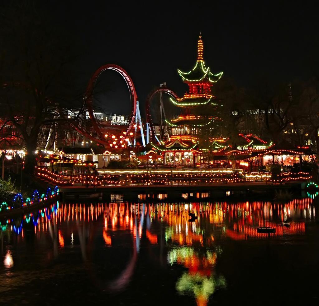 Tivoli Gardens, Amusement park, Copenhagen Tivoli