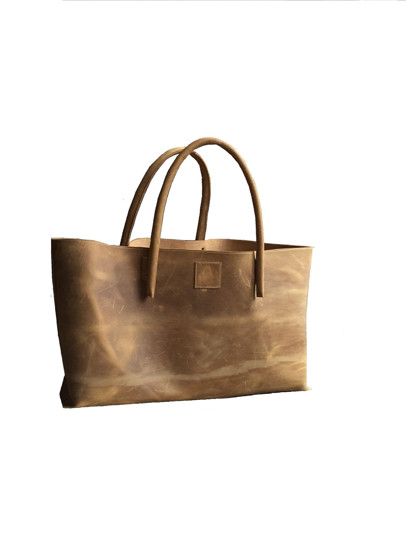XXL bolsa de compras de cuero comprador bolsa de cuero extra grande semi-rigr bolsa de transporte fresca usada mirada hecha a mano