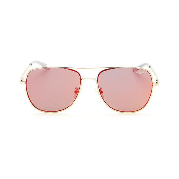 1e24baca688b9 Quay Australia QU-000149 RUNNING RIOT GOLD RED Sunglasses ( 54) ❤ liked on  Polyvore featuring accessories