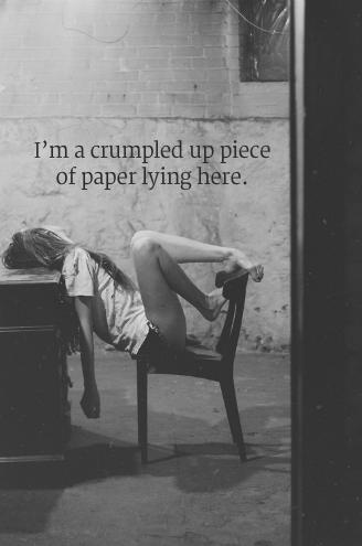 A crumbled soul..