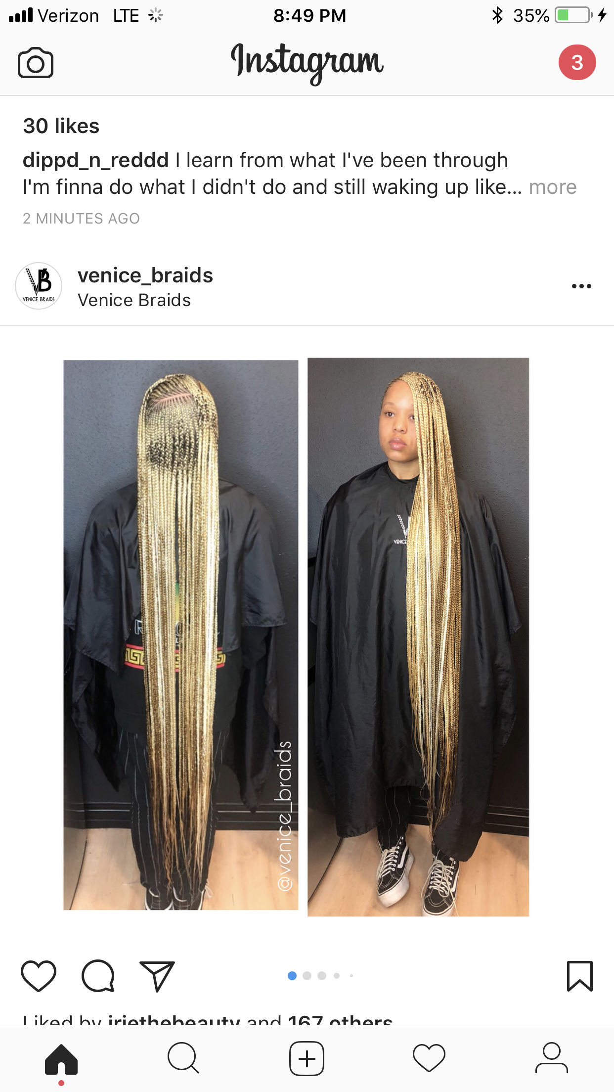 ankle length feed-in braids makeup