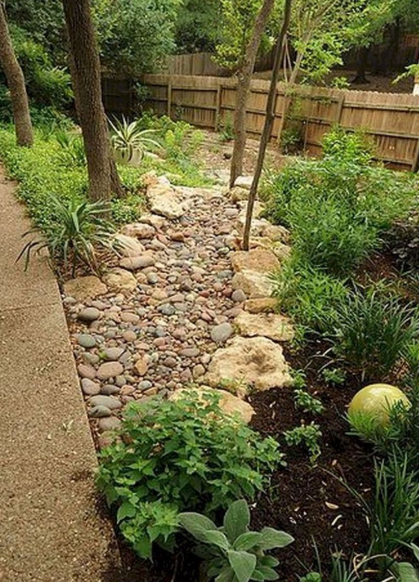 47 Relaxing Front Yard Rock Garden Landscaping Ideas