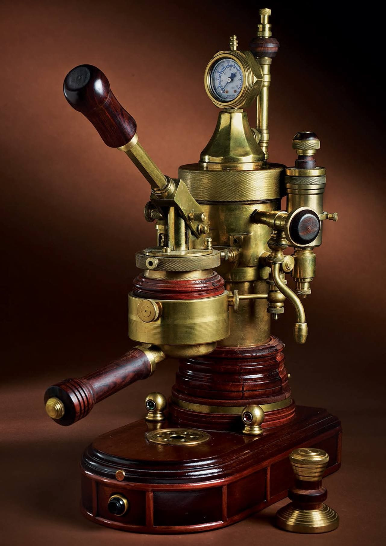steampunk espresso maker photo from lee valley tools. Black Bedroom Furniture Sets. Home Design Ideas
