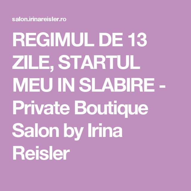 Dieta De 13 Zile Irina Reisler