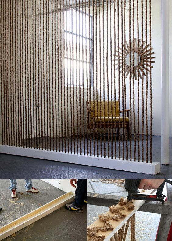 Muros divisorios con cuerdas open office Pinterest Cuerdas - muros divisorios de madera