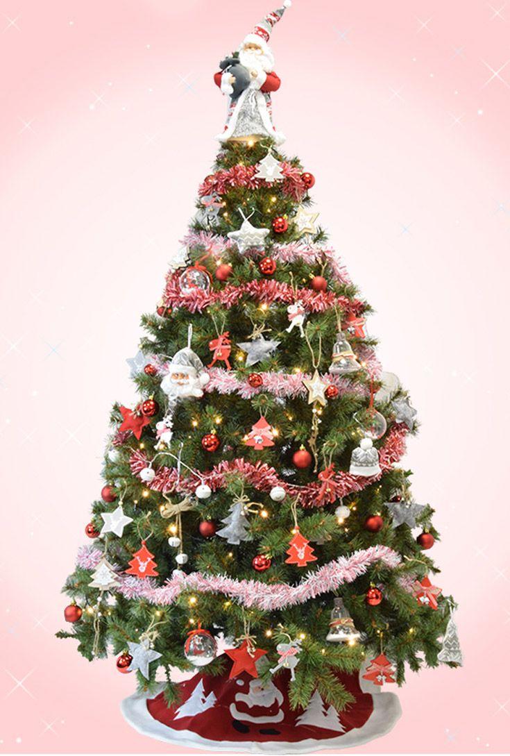 Sapin De Noel Nordique Aux Tons Rouges Blancs Et Gris Avec