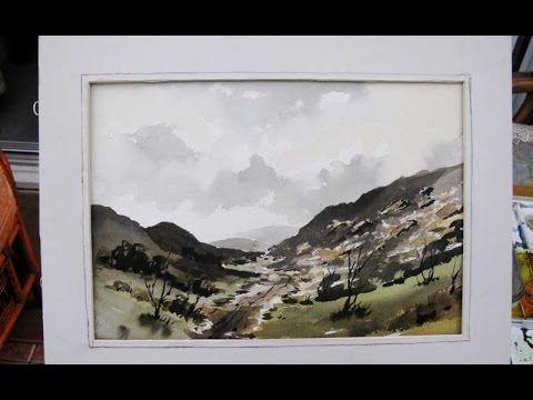 Alan owen Watercolour  .in the highlands