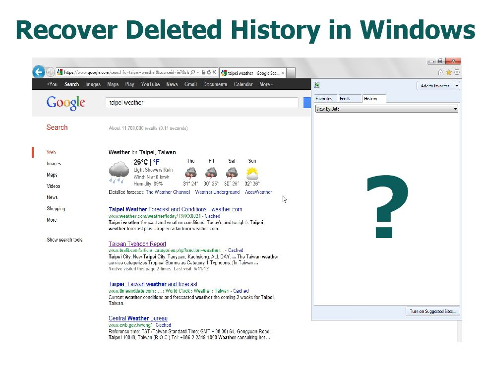 How To Recover Deleted History In Windows Internet History History Cyber Safety