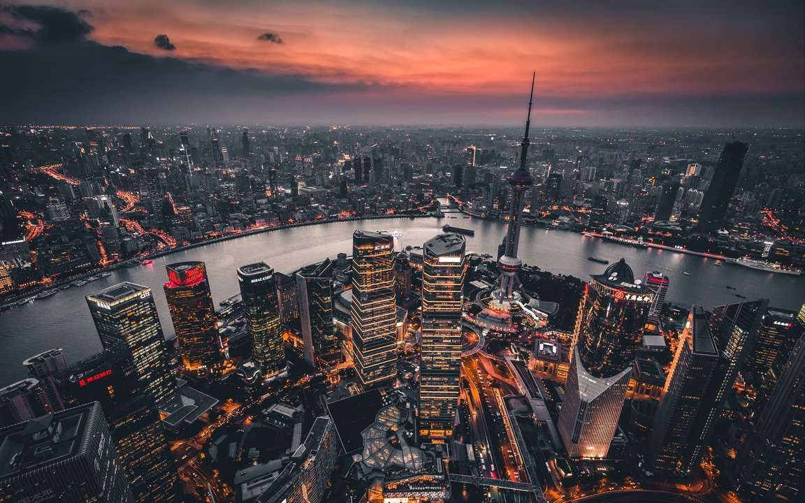 Download Wallpaper 3840x2400 Night City Aerial View Lights City Overview Shanghai China 4k Ultra Hd 16 10 Hd Background In 2020 Aerial View Nature Pictures City