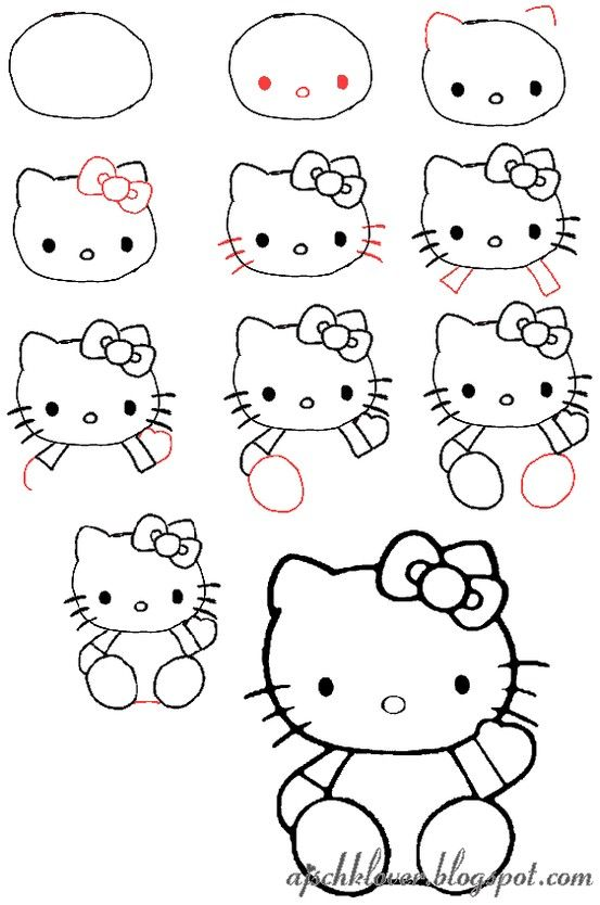 Let S Draw Hello Kitty Hello Kitty Drawing Kitty Drawing Cute Easy Drawings