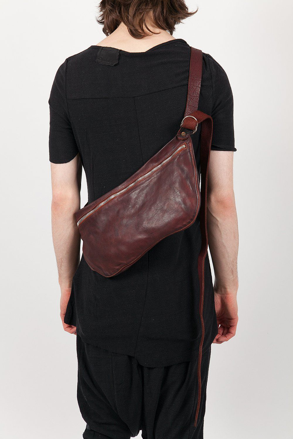 Visions Of The Future Baguette Bag Maroon GUIDI Layers London