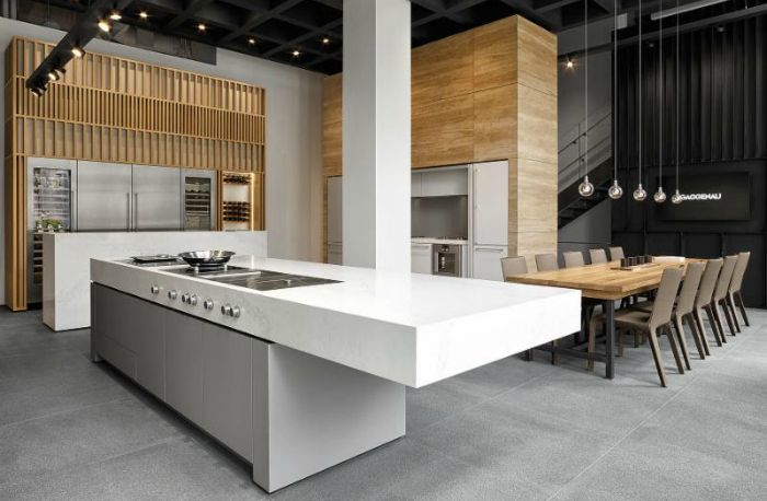 Kitchen  Gaggenau Unveils Flagship Showroom In Chicago  Kitchen Glamorous Chicago Kitchen Design Inspiration