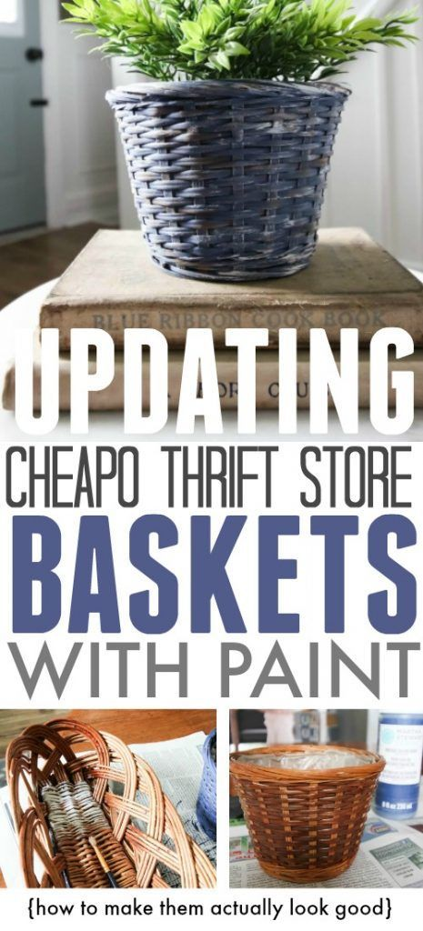 Updating Thrift Store Baskets to Use Around the Home | The Creek Line House