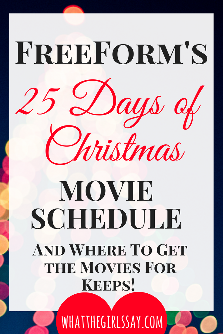 Freeform's 25 Days of Christmas Movies TV Schedule Movie