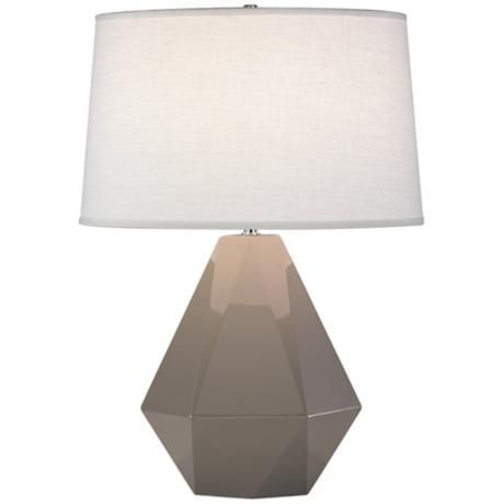 Robert Abbey Delta Lamp in Smokey Taupe $167