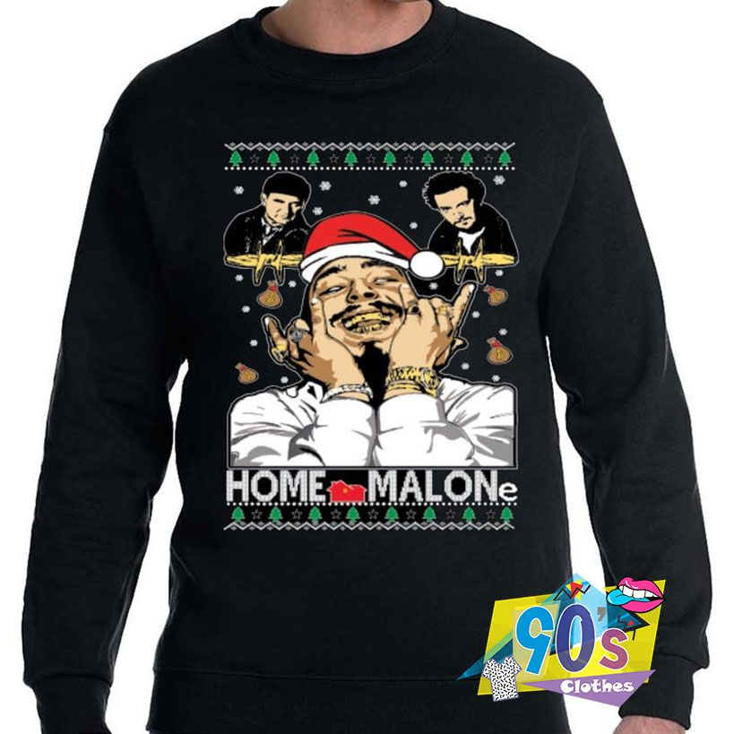 POST MALONE T SHIRT FUNNY HOME ALONE PARODY