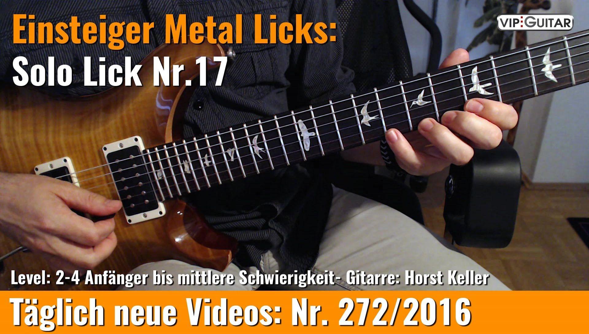 GITARRE LERNEN Pentatonik Schnelle 4 er Sequenz VIP Guitar Horst Keller Gitarre lernen