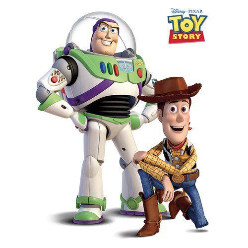 Buzz And Woody Graphic Art Print on Canvas Disney Classics Size: 50cm H x 40cm W x <a href=