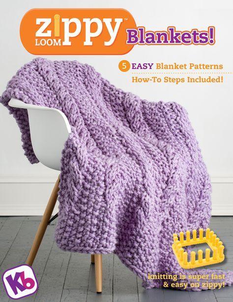 Zippy Loom Blankets Ebook Loom Blanket Loom Knitting And Blanket