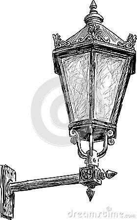 inspiration vintage street light painting pinterest dessin