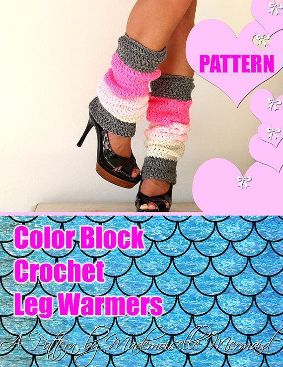 Color Block Leg Warmers Pattern - Crochet Pattern - Easy | Pinterest