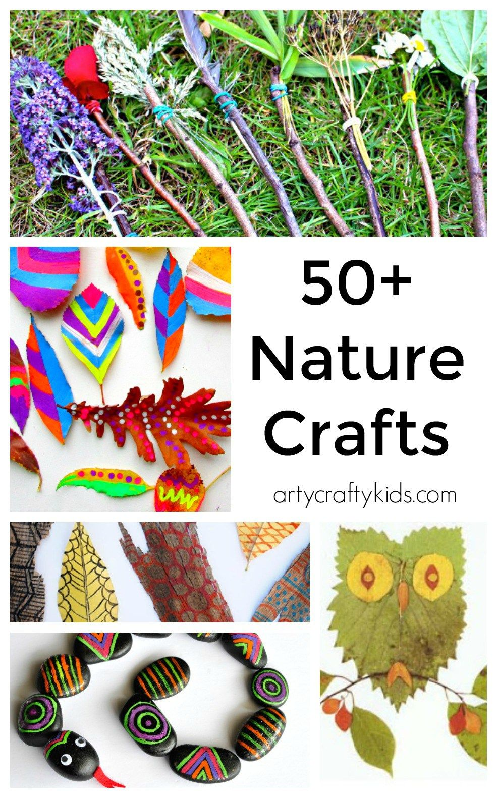 50 Nature Crafts for Kids -   18 school crafts show