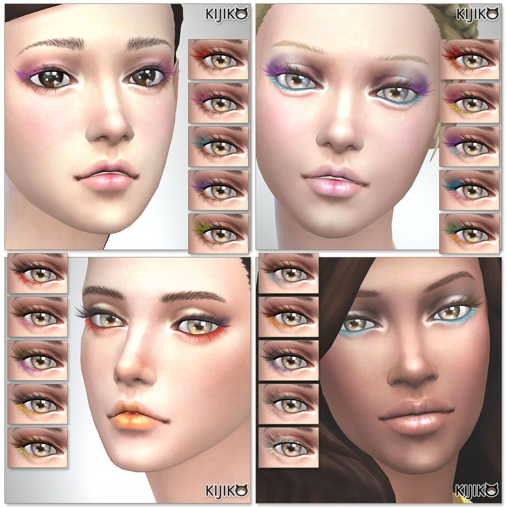 Long Eyelashes Sims 4
