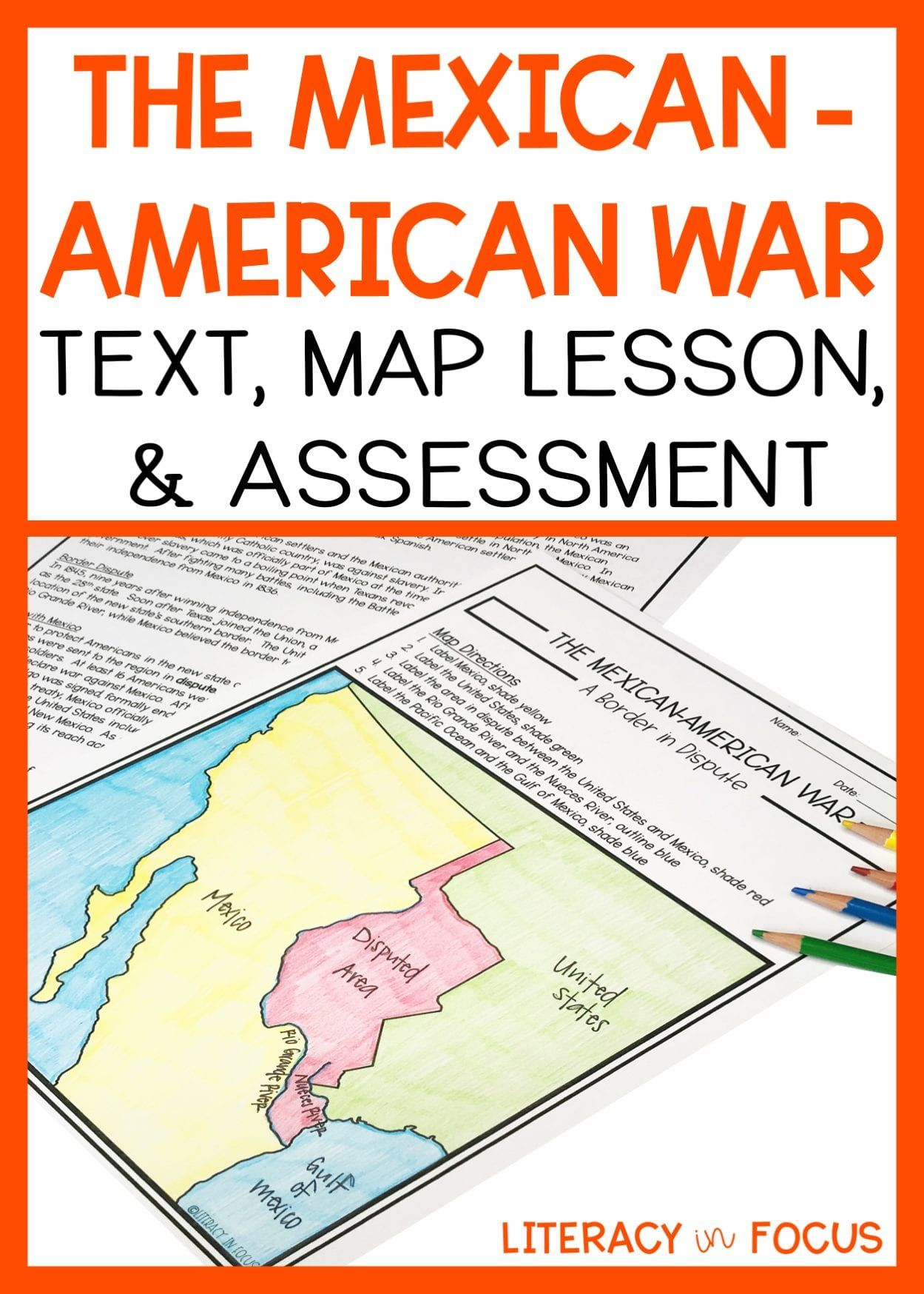 Mexican American War Lesson And Assessment With Images