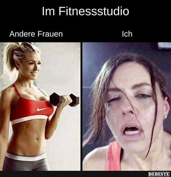 Im Fitnessstudio Lustige Fitness Fitnessstudio Fitness