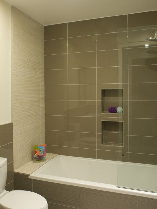 Flooring Comely Modern Bathroom With Light Brown 12x24