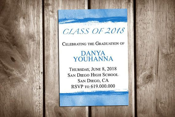 2018 graduation announcement cards