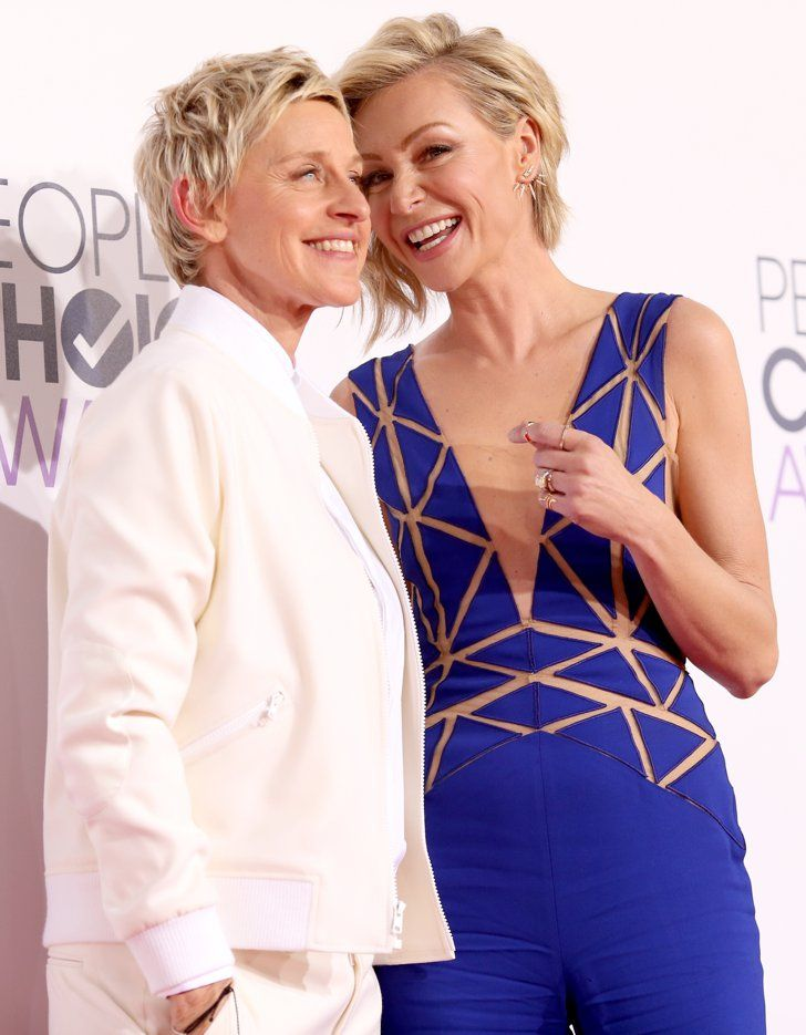 Pin for Later: These Celebrity Love Stories Are Right Out of a Fairy Tale Ellen DeGeneres and Portia de Rossi