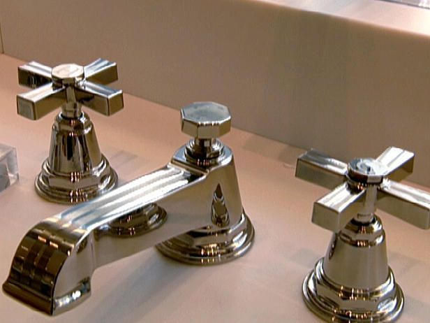 Art deco faucet. Not sure if I want to go modern or vintage, but ...