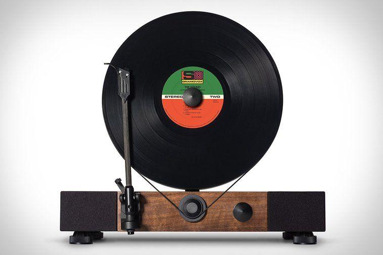 floating record vertical turntable gifts for men tocadiscos equipo sonido vinilos. Black Bedroom Furniture Sets. Home Design Ideas