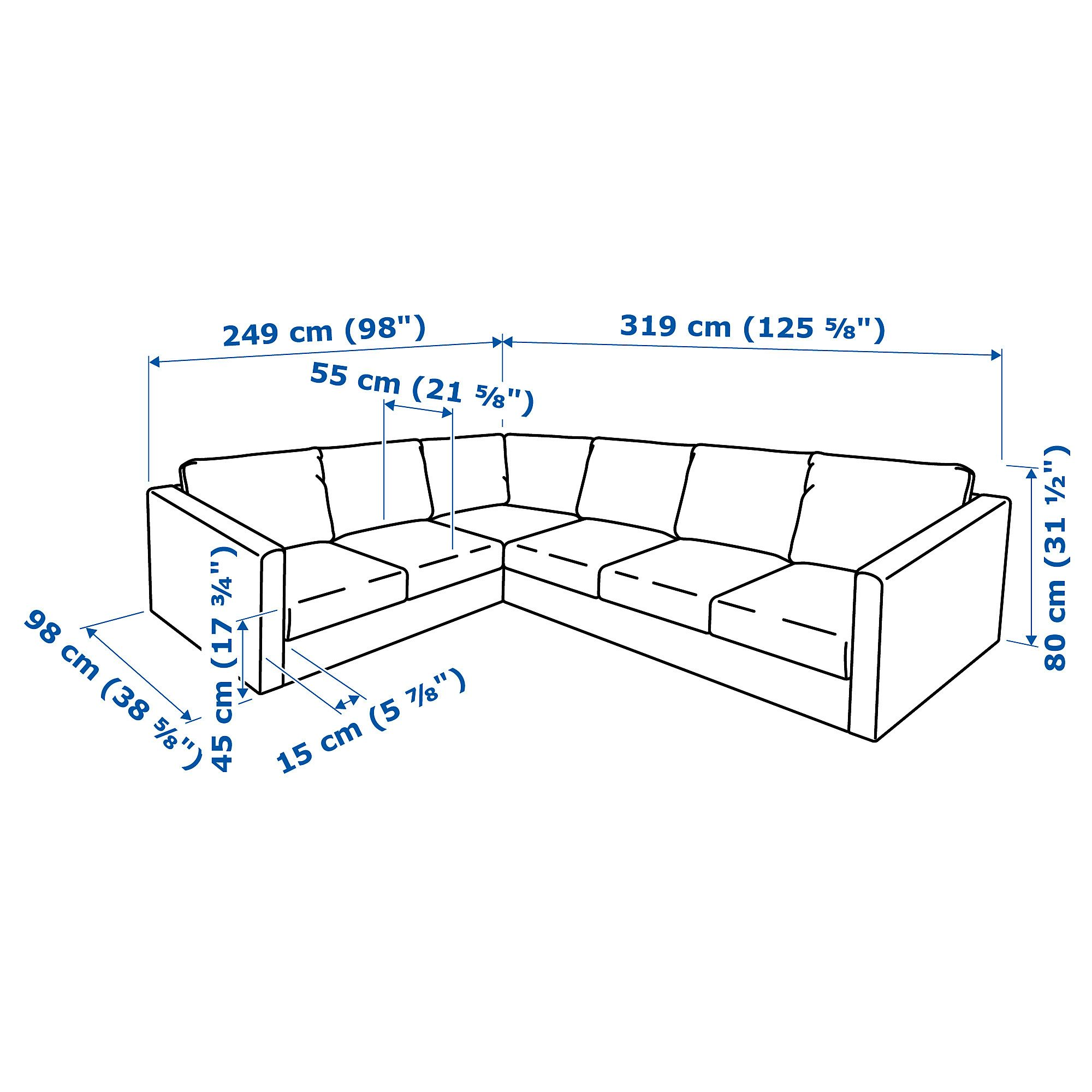 Vimle Sectional 5 Seat Corner Tallmyra Beige In