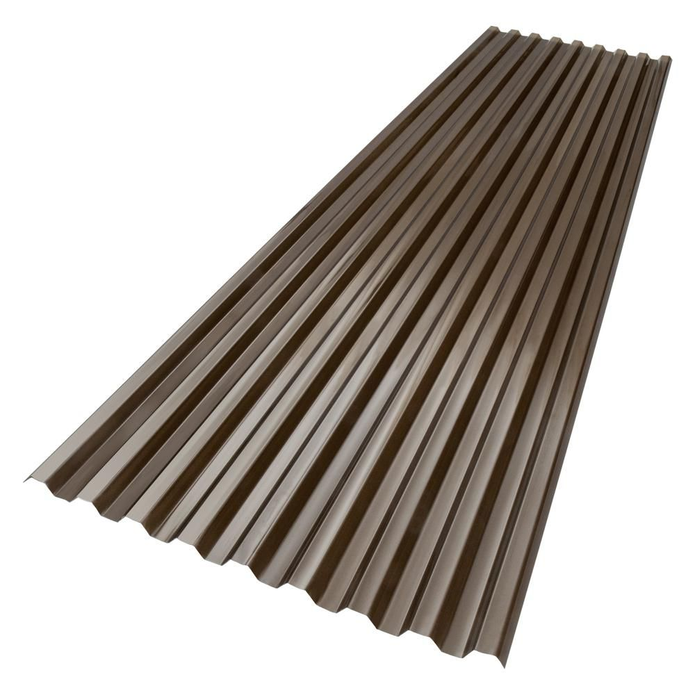 Suntuf 6 Ft X 26 In Polycarbonate Roof Panel In Bronze 180075 The Home Depot Polycarbonate Roof Panels Roof Panels Fibreglass Roof