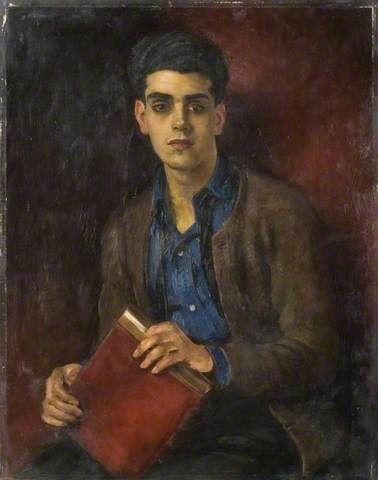 "William Bruce Ellis Ranken 1920s ""Portrait of an Anglo-Indian Student"""