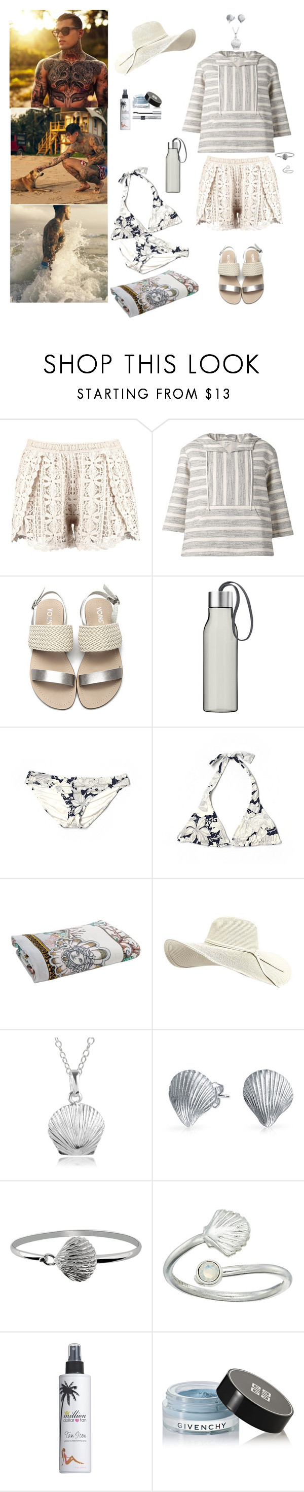 """""""Weekend Getaway"""" by blackmagicmomma ❤ liked on Polyvore featuring Boohoo, SUNO New York, Eva Solo, J.Crew, Versace, Journee Collection, Bling Jewelry, BillyTheTree, Alex and Ani and Million Dollar Tan"""