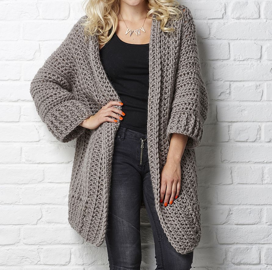 The Big Chill Cardigan pattern by Simone Francis | Pinterest | Big ...