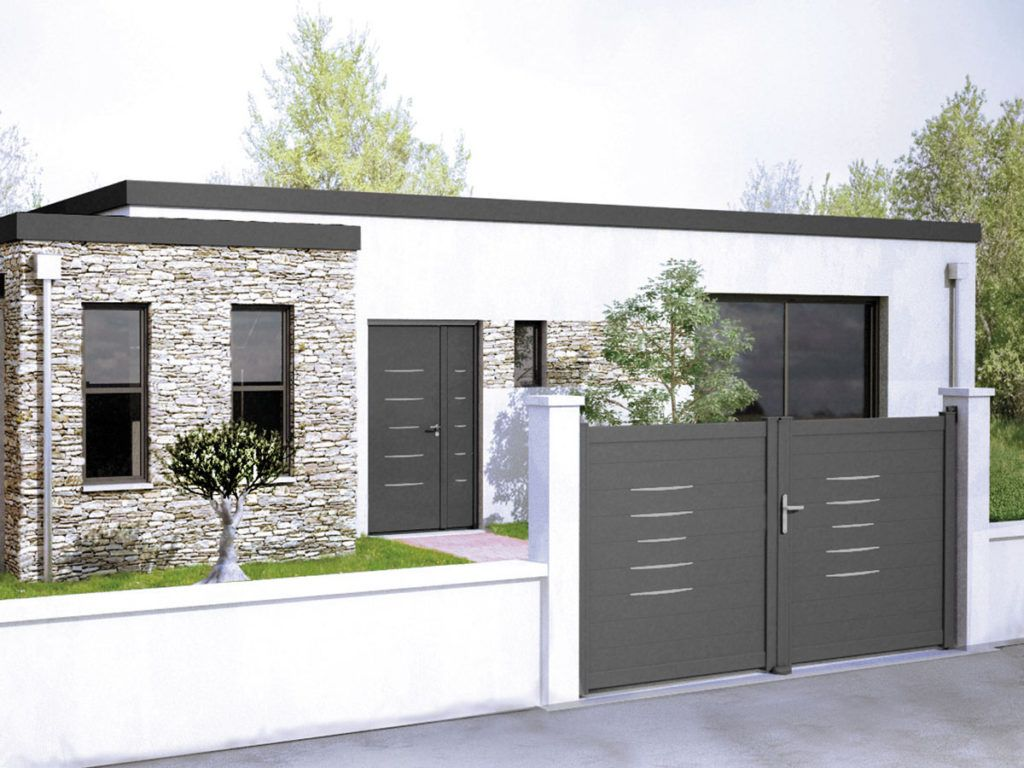15 id es de portails battants modernes portail alin a cr dit photo cadiou cl ture. Black Bedroom Furniture Sets. Home Design Ideas