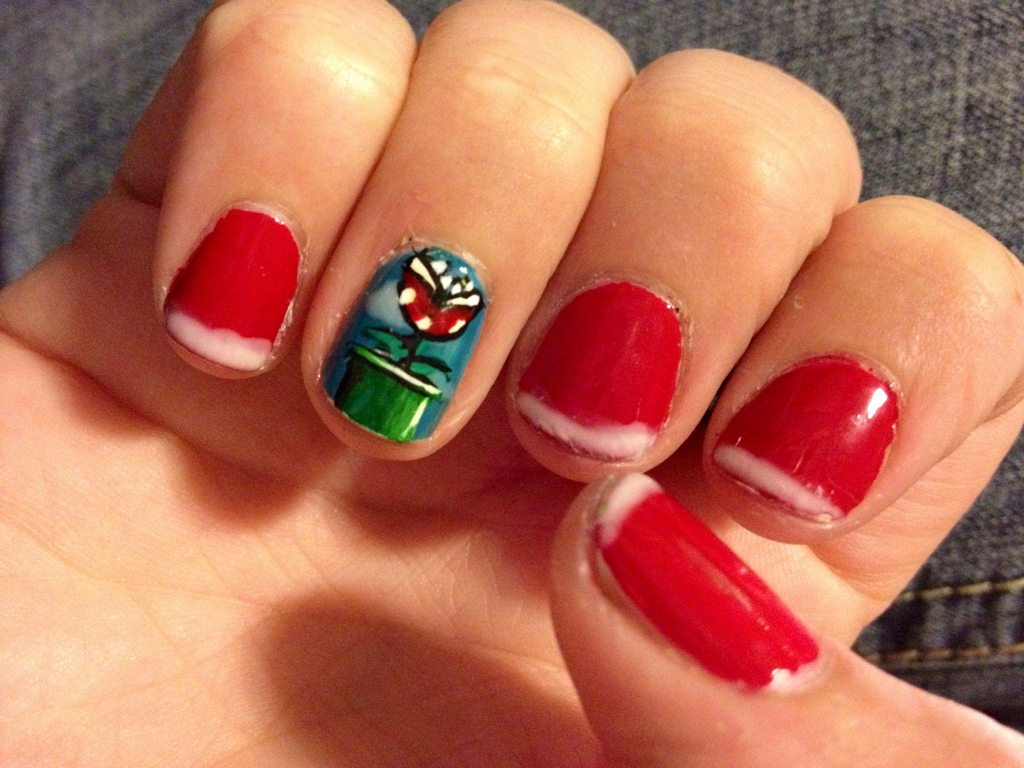 Mario Bro Piranha Plant Nerd Nails | Nails | Pinterest | Bro, Nail ...