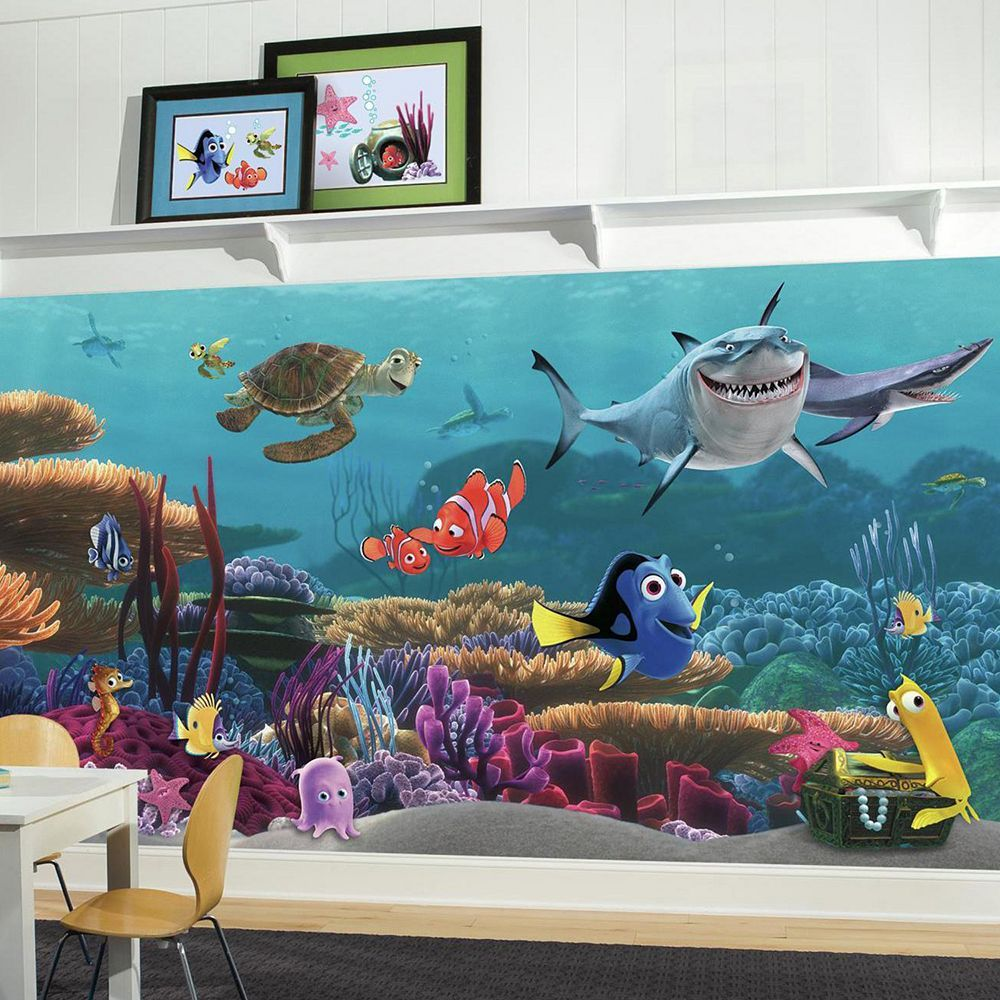 Finding Nemo Room Decor.Disney Pixar Finding Nemo Removable Wallpaper Mural In